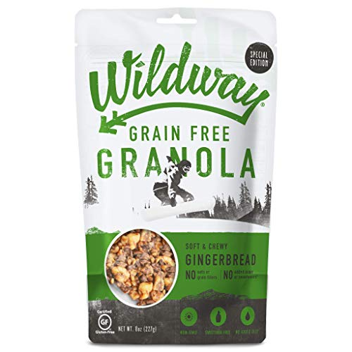 Wildway Gingerbread Grain-Free Granola, 8oz - 6 Pack (Certified gluten-free, Paleo, Vegan, Non-GMO)