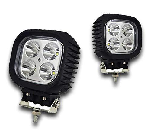 Par de potentes luces LED delanteras de 40 W para techo, bar, camión, camión, autobús, camioneta, todoterreno, furgoneta, todoterreno, 4 x 4