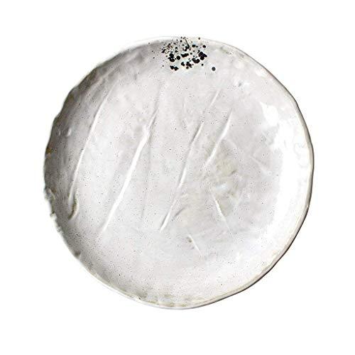 Cuenco, exquisito cuenco de cerámica Ensalada Irregular Plato de ensalada de frutas Snack Postre Vajilla Plato Bandeja 27x3cm Para ensalada Sopa de fideos de arroz