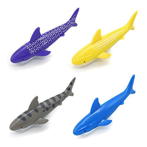 Conjunto Juego Acuático, Juego de Agua Buceo Tiburones Torpedo Juguetes Deportes Acuáticos Niños (4 Piezas)