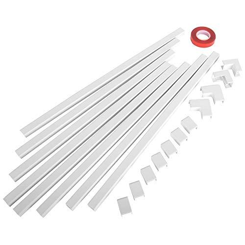 Senmubery Ein Kabel Kanal Kabel Concealer - Cmc-03 Kabel Abdeckungs Wand Kabel Management System - 125 Zoll Kabel Hider Raceway Kit