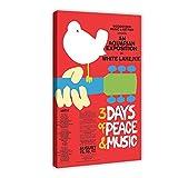 Woodstock Poster Dekoration Leinwand Poster Schlafzimmer