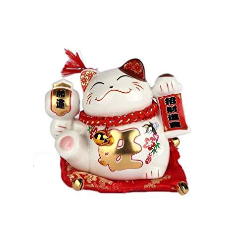 lachineuse Gato japonés Maneki Neko, Porte Bonheur, 9x8x10cm