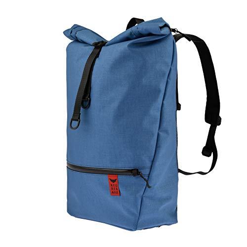 Red Rebane Gepäckträgerrucksack Purist Pro - Blau - Fahrradrucksack und Fahrradtasche in einem - funktional, schick & hochwertig - Gepäckträgertasche Handmade in Germany