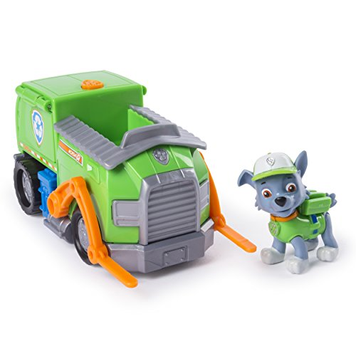 PAW Patrol – Rocky's Recycling Truck mit Pop-Out-Werkzeug und beweglichem Gabelstapler, für Kinder ab 3 Jahren