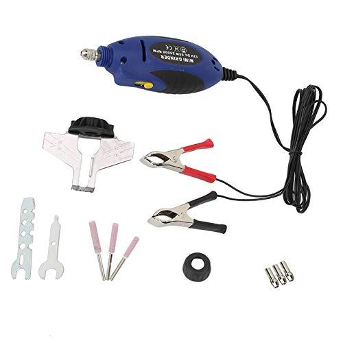 Amoladora de cadena eléctrica, Afilador de motosierra de mano eléctrico de 12V Mini amoladora de sierra de cadena Máquinas de pulir para exteriores 14 * 4.3 * 4.5 cm