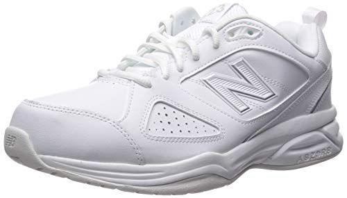 New Balance Women's 623v3 Casual Comfort Athletic Shoe, White/Silver, 6 2E US