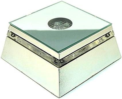Leuchtsockel für Kristallquader mit 3 LED`s Farbwechsel Neu