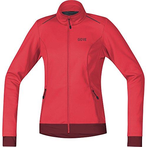 GORE Wear Damen Winddichte Fahrradjacke, C3 Women GORE WINDSTOPPER Thermo Jacket, 40, Pink/Bordeaux, 100328