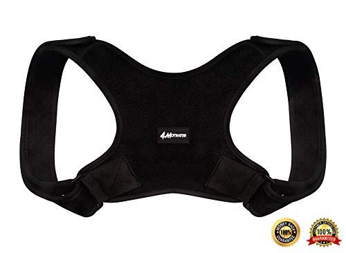 4Motivated Geradehalter als Rückenkorrektur, ideale Wirbelsäulenunterstützung für Männer und Frauen, mit verstellbaren Haltegurten, Rückenstütze - Größe S