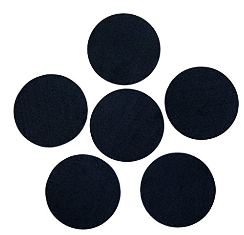 """Black Adhesive Felt Circles: Variety of Sizes: 2"""", 3"""", 4"""" or 5"""" Wide; Die Cut Felt Stickers for DIY Projects & Professional Craft Finishing (Single Package of 20, 3 Inch Circles)"""