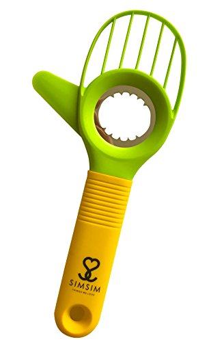 Avocado-Schäler 3 in 1 in Profiqualität Schälen Schneiden Entkernen sicheres Küchen-Werkzeug von SimSim