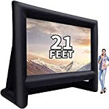GYUEM 21 feet Inflatable Outdoor Projector Movie Screen - Blow Up Screen for TV & Movies...