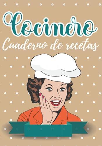 Cocinero: Cuaderno de recetas, recetas en blanco para mamá