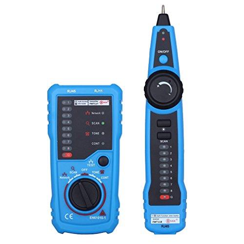 leshp comprobador de cables de red RJ11RJ45Línea Buscador Rastreador de cable para cable de red Collation, línea telefónica prueba, continuidad comprobar, batería baja Indicador de capacidad
