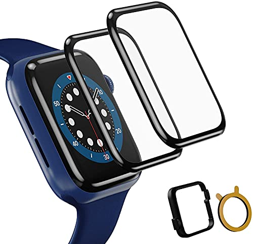 TOPACE 2 pellicole protettive compatibili con Apple Watch Series 6/SE/5/4 da 44 mm, copertura totale 10D, bordo morbido HD TPU Clear anti graffio compatibile con Apple iWatch 44 mm