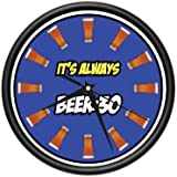 SignMission Beer Wall Clock Drinker Drunk Pong bar Glass Gift, Beagle Dog pet Dogs Puppy Breeder, 1BEER 30