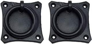 Adonai Hardware Pethahiah Black Antique Iron Drop Pull- Black Powder Coated (Supplied as 2 Pieces per Pack)