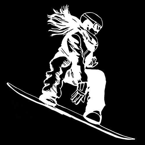 Esquí estilo libre Snowboard Chica Tabla de esquí Nieve Invierno Deportes extremos Etiqueta de la pared Etiqueta engomada del coche Calcomanía de vinilo Ventiladores Dormitorio Sala de estar Club