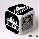 570 フォートナイト 7色イルミネーション デジタル 目覚し時計 アラーム