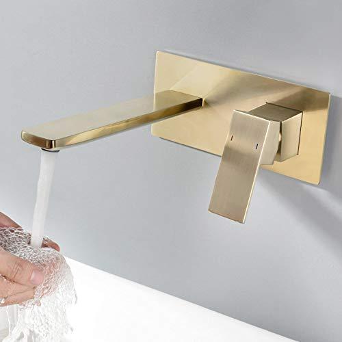 BBB&LIU Grifo de lavabo de baño con grifo oculto...