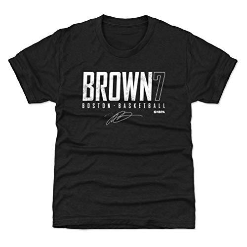 500 LEVEL Jaylen Brown Boston Youth Shirt (Kids Shirt, Large (10-12Y), Tri Black) - Jaylen Brown Boston Elite WHT