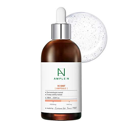 Coreana AMPLE:N Ampolla de inyección VC 3.38 fl.onz.(100 ml) - Suero facial antienvejecimiento para aclarar la piel, reduce las líneas finas, el daño solar, para manchas oscuras, piel radiante