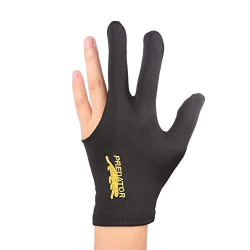 ,a Billardhandschuh aus Lycra mit Stickerei, linke Hand, 3 Finger, für Snooker und Billard