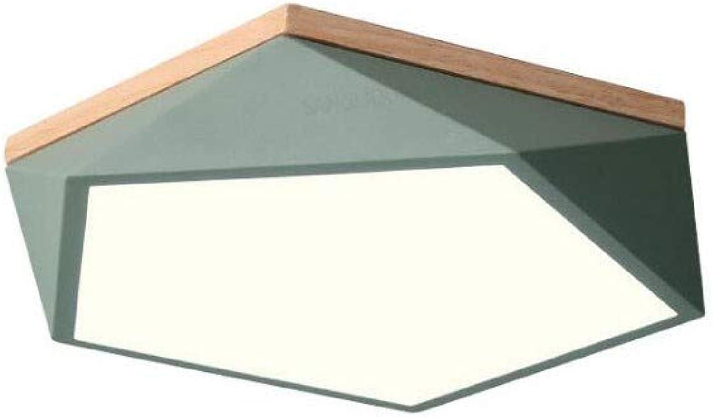 LED Deckenleuchte Einfache Moderne Kreative Geometrie 40 cm 18 Watt Schlafzimmer Wohnzimmer Arbeitszimmer Esszimmer Lampen [Energieklasse A +]