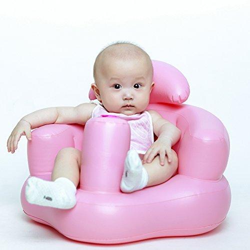 Unbekannt Per Baby-aufblasbarer Sitz-Verstärker Lernen, Sofa mit Rückenlehne zu Bauen Eingebaute Luftpumpe für Kleinkinder