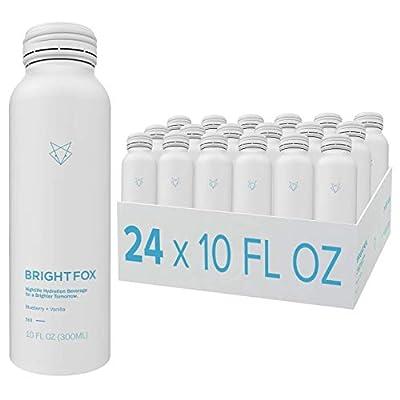 BrightFox Hydration Beverage | Vitamins (B5, B6, E) Minerals (Zinc, Choline) Antioxidants & Electrolytes | ZERO sugar sweeteners calories coloring stimulants | 100% Hydration | 24 Pack