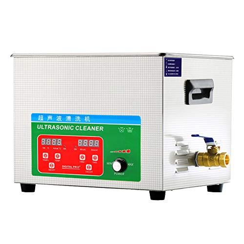LXMBox Digital Ultrasonic Cleaner 40khz 6L, Macchina di Pulizia ad ultrasuoni con Funzione Timer/riscaldatore/Degas/Semiwave, Bagno ad ultrasuoni di Pulizia ricambi Auto Accessori industriali