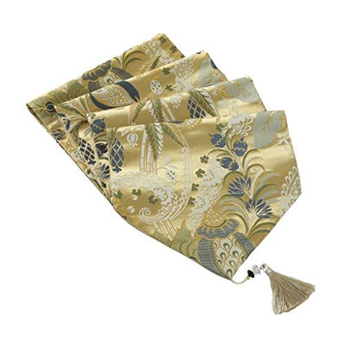 Tafelloper Silk Driedimensionale Jacquard Brocade Borduren tabel Decoraties for bruiloft partij of tafeldecoratie Tafelkleed-4.16 (Size : 30 * 210cm)