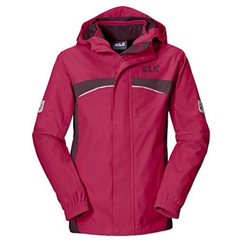 Jack Wolfskin Mädchen Topaz 3IN1 Girls 3-in-1 Jacke, Azalea Red, 152 EU