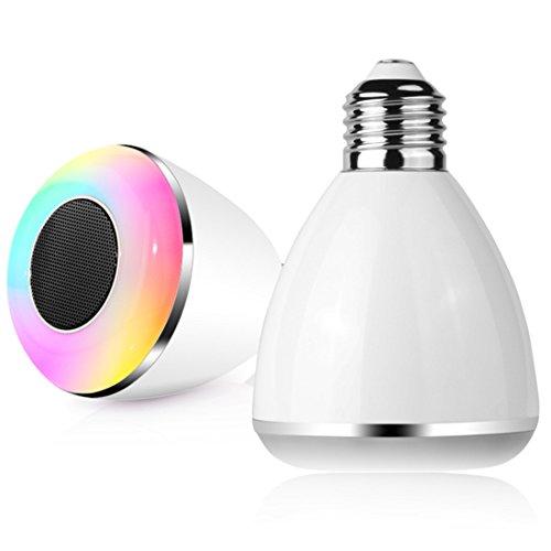 Farsler BL08 a Kabellose Bluetooth 4.0 Lautsprecher Smart LED Leuchtmittel Musik Lautsprecher Lampe mit Kostenlose App kabellos Kontrollierte Unterstützung iPhone und Android Smartphones (weiß)
