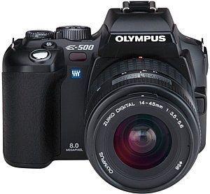 Olympus E-500 SLR-Digitalkamera (8 Megapixel) inkl. Zuiko Digital 14-45 mm