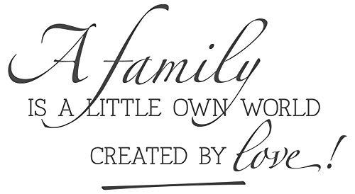 dekodino® Wandtattoo Spruch Familie a little own world created by love Deko