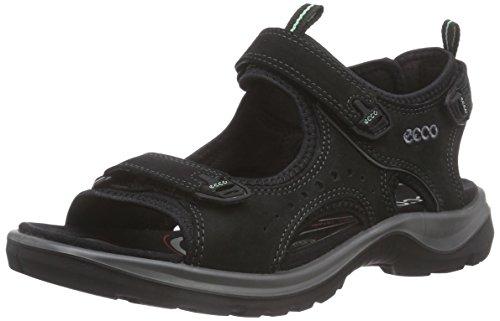 ECCO Damen OFFROAD Flat Sandal, Schwarz, 40 EU