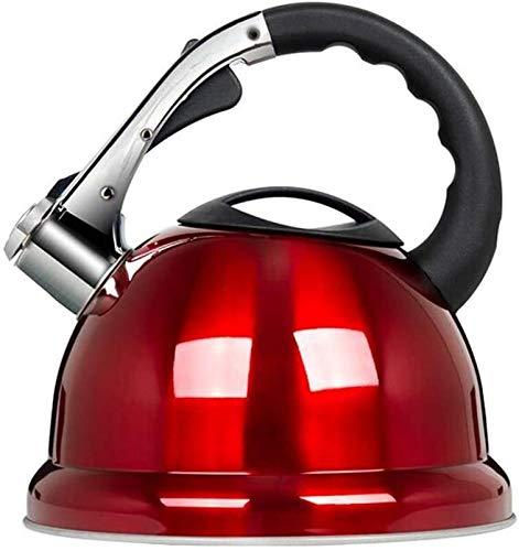 Bouilloire induction Siffling Kettle 3.5L Acier inoxydable Fast Bood Cuisine Maison Tea Boisson Chaude Camping Pêche à la pêche au gaz électrique rouge WHLONG