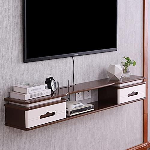 WXLW- shelf Estante de TV Flotante Media DE TV Mueble de Pared Mueble de TV Audio/Video Consola Consola Consola Centro de Entretenimiento Centro de Entretenimiento Estante para el hogar y la Oficina