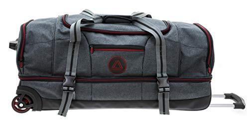 Reisetasche Schuhfach Doppeldecker Trolley Grau Anthra Rot 76 x37x33cm Bowatex