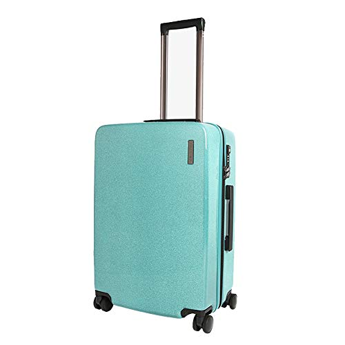 QWERASD High Capacity Business Trolley Case Multifunction Small Suitcase Suitcases with Wheels Boarding Travel Customs Lock, Silent Caster,Green,24Inch