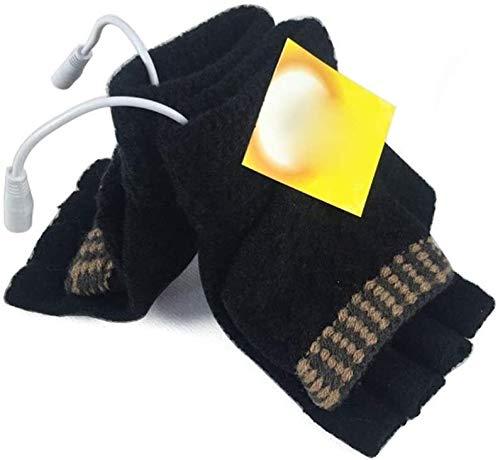 BDBT Guantes calentados Los Guantes con calefacción eléctrica Recargable USB for los Hombres Interior al Aire Libre Calentador de la Mano del Guante for la Escalada Senderismo Ciclismo Trabajo Nieve