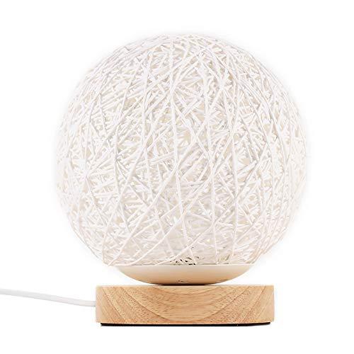 ABEDOE - Lampada da tavolo in legno, per camera da letto, soggiorno, comodino, comodino,...