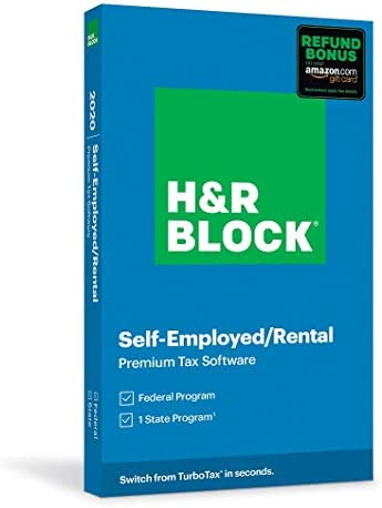 H R Block Tax Software Premium 2020 with Refund Bonus Offer Amazon Exclusive Physical Code by product image