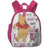 Zaini Winnie The Pooh and Piglet School Zaini for Girls Boys Children Elementary School Bags Bookbag Outdoor Travel Daypack