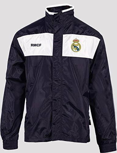 Real Madrid Regenjacke für Erwachsene, Farbe: Marineblau, Marineblau, S