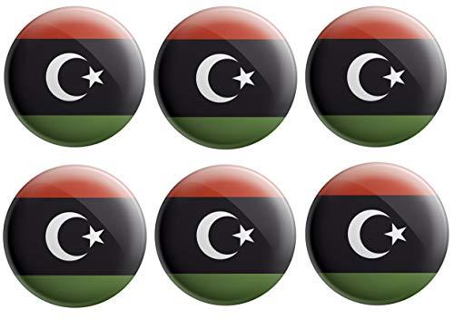 AK Giftshop Libyen-Flaggen-Anstecker, Partytütenfüller, Veranstaltungen, Feiern, Sammler, Dekorationen, Sockenfüller (12 Stück)