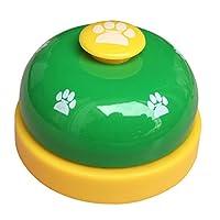 Olpchee en métal pour bureau Call Bell cloches de dressage de chien avec motif empreintes de pieds pour réception Comptoir de cuisine