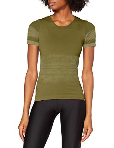 Salomon Elevate Move'On Tee W T-Shirt, Damen, Martini Olive, XS